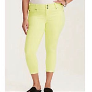 NWT Torrid Skinny Ankle Jean Jegging Yellow 16